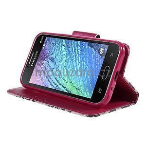 Zapínací puzdro pre Samsung Galaxy J1 - mašlička - 3