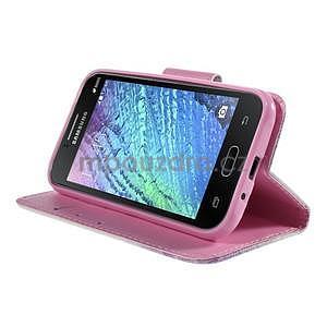 Zapínací puzdro pre Samsung Galaxy J1 - fialová púpava - 3