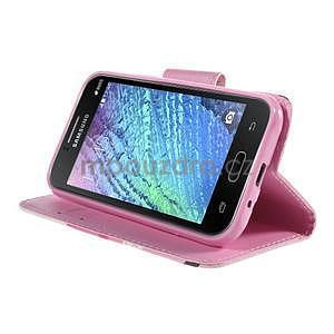 Zapínací puzdro pre Samsung Galaxy J1 - kvetoucí větvička - 3