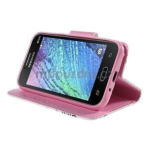Zapínací puzdro pre Samsung Galaxy J1 - motýlci - 3