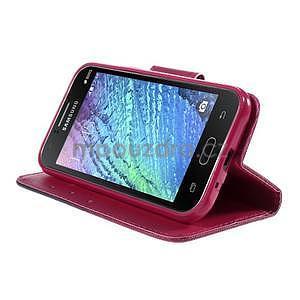 Zapínací puzdro pre Samsung Galaxy J1 - květinové srdce - 3