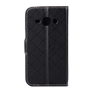 Elegantné puzdro na Samsung Galaxy J1 - čierné - 3