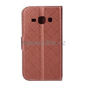 Elegantné puzdro na Samsung Galaxy J1 - hnedé - 3
