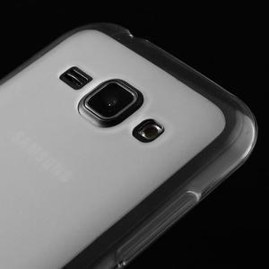 Matný gélový obal na Samsung Galaxy J1 - biely - 3