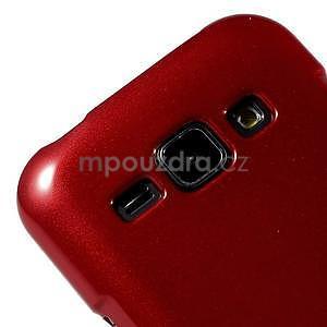 Červený gélový obal pre Samsung Galaxy J1 - 3