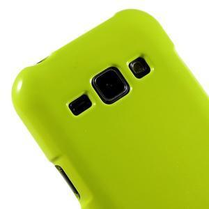 Zelený gélový obal pre Samsung Galaxy J1 - 3