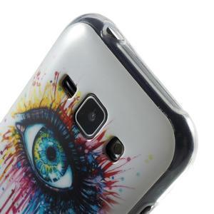 Gélový kryt na Samsung Galaxy J1 - farebné oko - 3