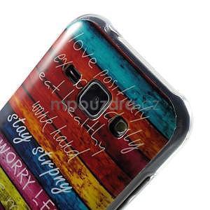 Gélový kryt na Samsung Galaxy J1 - farby dřeva - 3