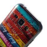 Gélový kryt na Samsung Galaxy J1 - farby dřeva - 3/4