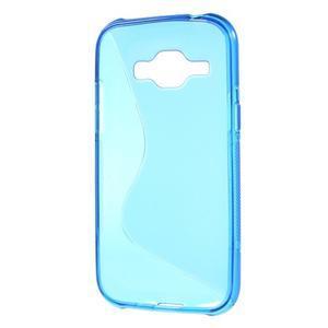 Modrý gélový s-line obal Samsung Galaxy J1 - 3