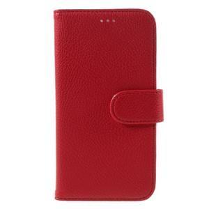 High PU kožené pouzdro na mobil Samsung Galaxy J3 (2016) - červené - 3