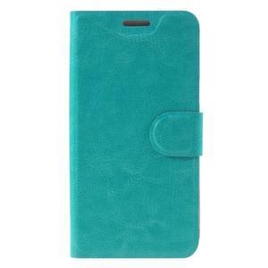 Horse PU kožené penženkové puzdro pre Samsung Galaxy J3 (2016) - modré - 3