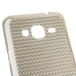Diamond gélový obal pre mobil Samsung Galaxy J3 (2016) - šedý - 3