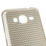 Diamond gélový obal pre mobil Samsung Galaxy J3 (2016) - šedý - 3/4