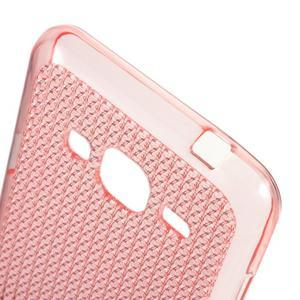 Diamond gelový obal na mobil Samsung Galaxy J3 (2016) - růžový - 3