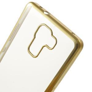 Gelový obal se zlatým obvodem na Samsung Galaxy J3 (2016) - 3