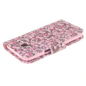 Standy peněženkové pouzdro na Samsung Galaxy J5 - růže - 3
