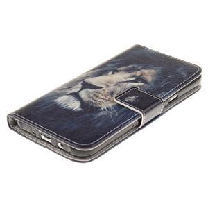 Standy peňaženkové puzdro pre Samsung Galaxy J5 - lev - 3