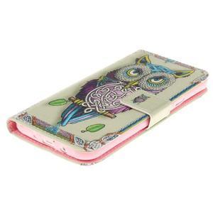 Standy peněženkové pouzdro na Samsung Galaxy J5 - sova - 3