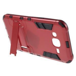 Odolný kryt 2v1 se stojánkem na Samsung Galaxy J5 - červený - 3