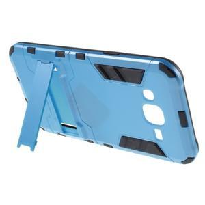 Odolný kryt 2v1 so stojanom pre Samsung Galaxy J5 - modrý - 3