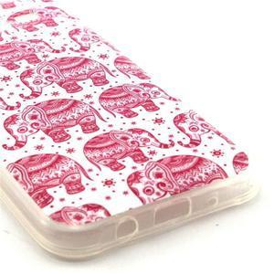 Imda gelový obal na mobil Samsung Galaxy J5 - růžoví sloni - 3