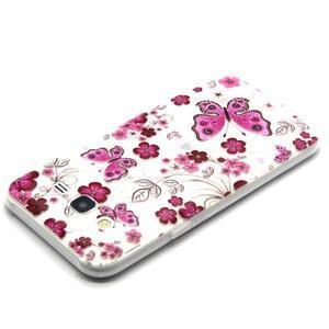 Trasnparent gelový obal na Samsung Galaxy J5 - motýlci a květiny - 3