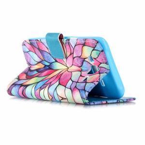 Pictu peňaženkové puzdro pre Samsung Galaxy J5 - farebné lístky - 3