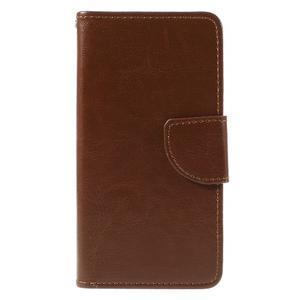 Peňaženkové puzdro pre mobil Samsung Galaxy J5 - hnedé - 3