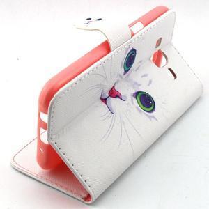 Knížkové pouzdro na mobil Samsung Galax J5 - kočička - 3