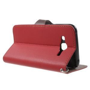 Leaf peňaženkové puzdro pre Samsung Galaxy J5 - červené - 3