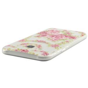 Ultratenký slim gelový obal na Samsung Galaxy J5 - květiny - 3