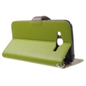 Leaf peňaženkové puzdro pre Samsung Galaxy J5 - zelené - 3