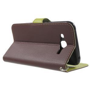 Leaf peňaženkové puzdro pre Samsung Galaxy J5 - hnedé - 3