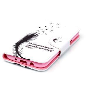 Emotive puzdro pre mobil Samsung Galaxy J5 - vtáčie pierko - 3