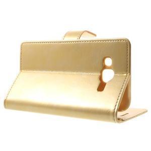 Mercury PU kožené puzdro pre mobil Samsung Galaxy J5 - zlaté - 3