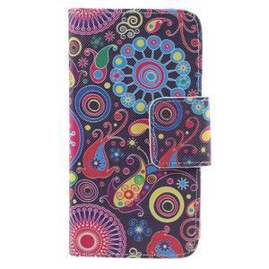 Dairy peňaženkové puzdro pre Samsung Galaxy J5 - farebné kruhy - 3