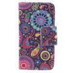 Dairy peňaženkové puzdro pre Samsung Galaxy J5 - farebné kruhy - 3/7