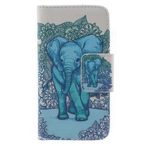 Dairy peněženkové pouzdro na Samsung Galaxy J5 - modrý slon - 3