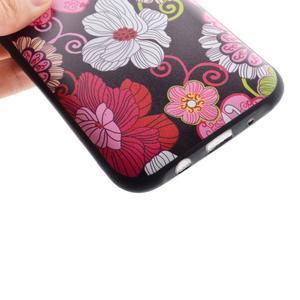 Jelly gelový obal na mobil Samsung Galaxy J5 - koláž květin - 3