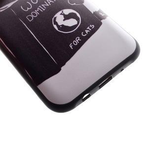 Jelly gélový obal pre mobil Samsung Galaxy J5 - mačička čte - 3