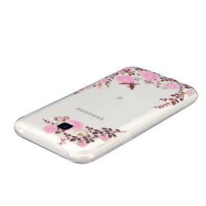 Trans gelový obal na mobil Samsung Galaxy J5 - květiy - 3