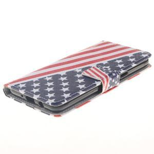 Style peňaženkové puzdro pre Samsung Galaxy J5 (2016) - US vlajka - 3