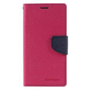 Diary PU kožené puzdro pre mobil Samsung Galaxy J5 (2016) - rose - 3