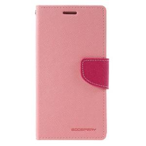 Diary PU kožené puzdro pre mobil Samsung Galaxy J5 (2016) - ružové - 3