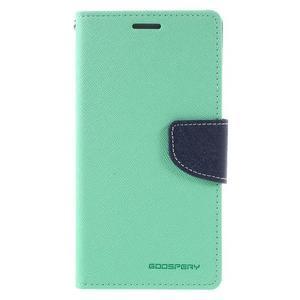 Diary PU kožené puzdro pre mobil Samsung Galaxy J5 (2016) - azúrové - 3