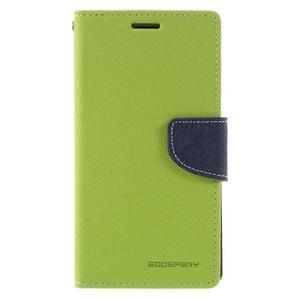 Diary PU kožené puzdro pre mobil Samsung Galaxy J5 (2016) - zelené - 3