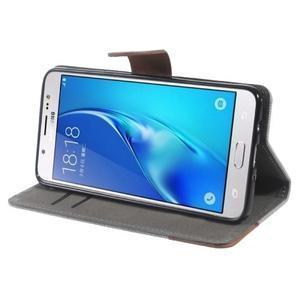 Denim peňaženkové puzdro pre Samsung Galaxy J5 (2016) - šedé - 3