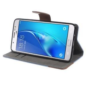 Denim peňaženkové puzdro pre Samsung Galaxy J5 (2016) - svetlomodré - 3