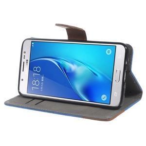 Denim peňaženkové puzdro pre Samsung Galaxy J5 (2016) - modré - 3